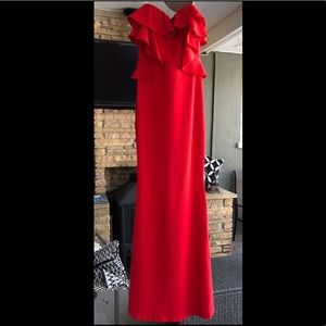 ONE LEFT! Symphony Fiesta Red Ruffle Gown